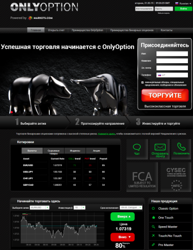 Сайт Брокера OnlyOption