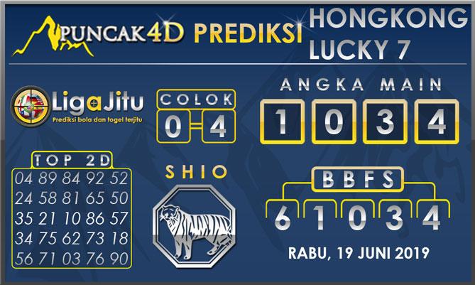PREDIKSI TOGEL HONGKONG LUCKY7 PUNCAK4D 19 JUNI 2019
