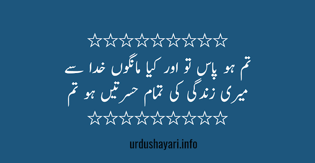 tum mere pass love shayari 2 lines - two lines urdu poetry for love with lite image