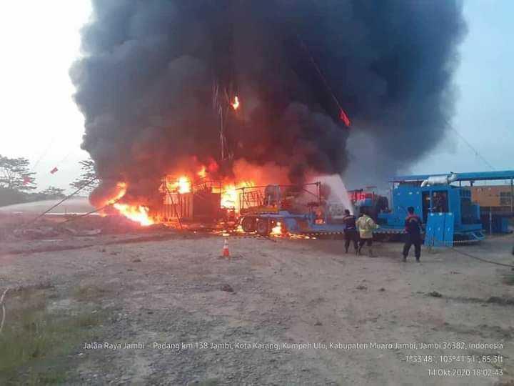 KKKS Pertamina EP Asset 1 Jambi Field Berhasil Tangani Kebakaran di Lokasi PPS-01