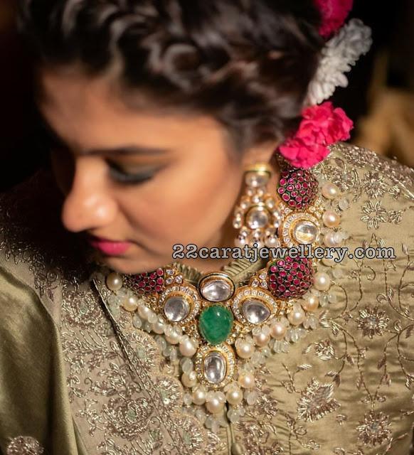 Anam Mirza Polki Bridal Choker