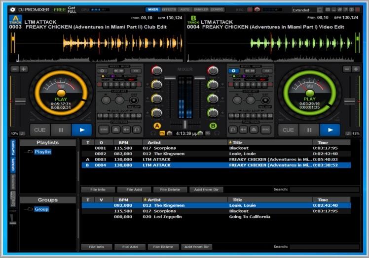 DJ MIXER :  Η πιο εξελιγμένη του μορφή με πολλά εφέ.