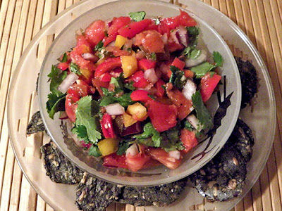 Salsa and crackers
