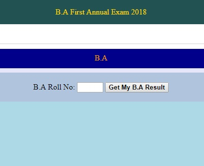 Click the link below to check the Result Gazette BA Supplementary Examination 2018