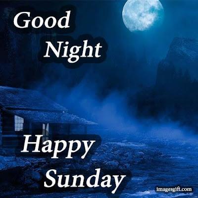 happy sunday images good night
