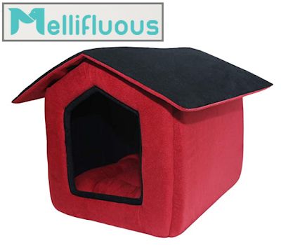 Mellifluous Foldable Velvet Fabric Dual Color Pet House for Your Beloved Dogs & Cats