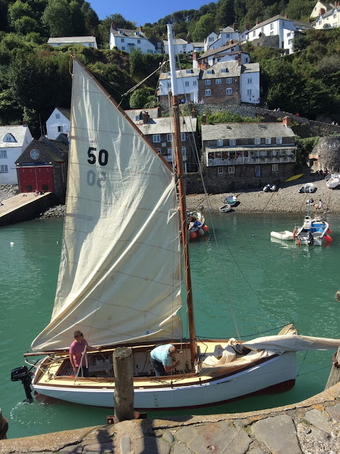 Clovelly welcomes their new Oyster boat, 'BESSIE'