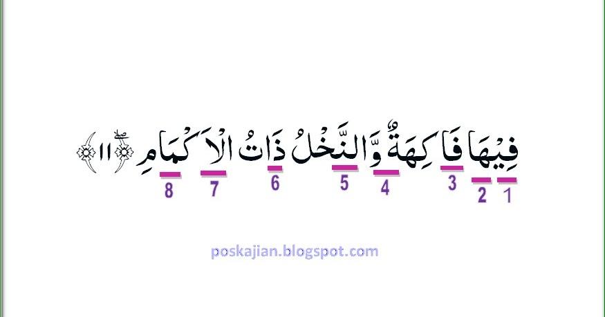 Hukum Tajwid Surat Ar-Rahman Ayat 11 Lengkap
