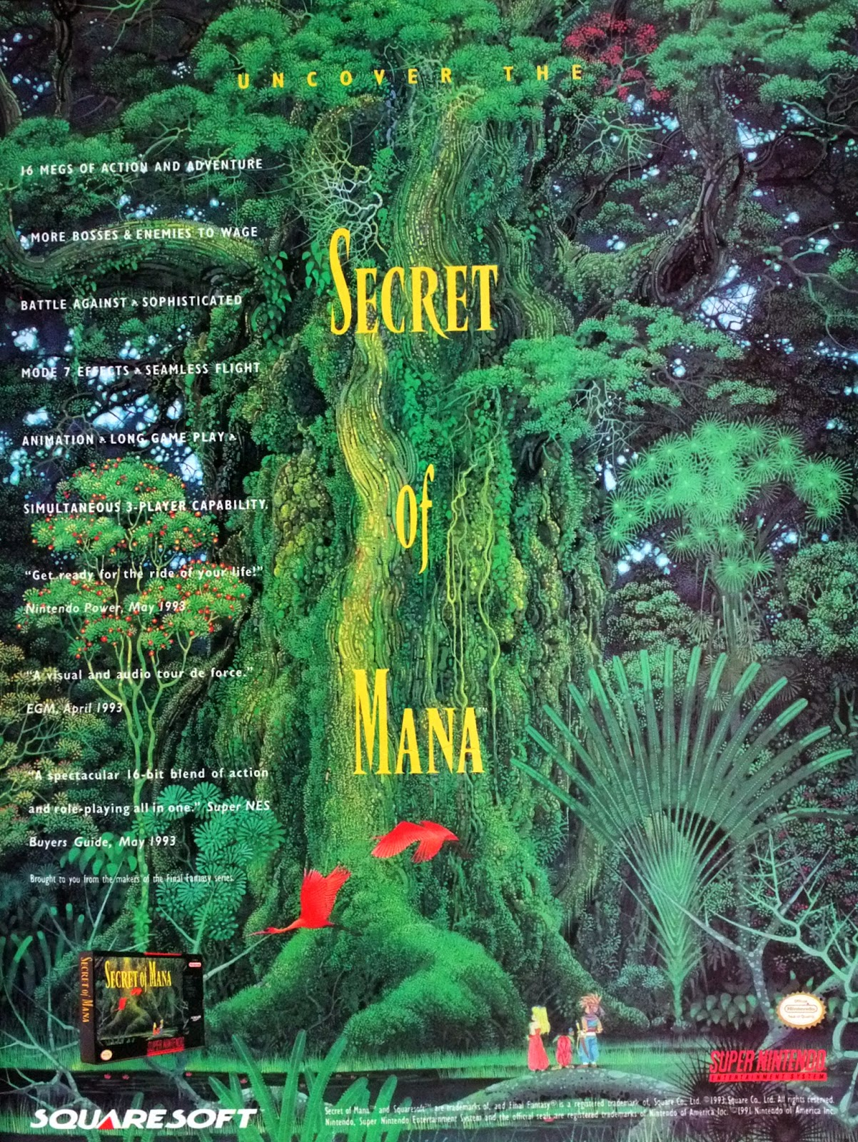 Secret of Mana advertisement