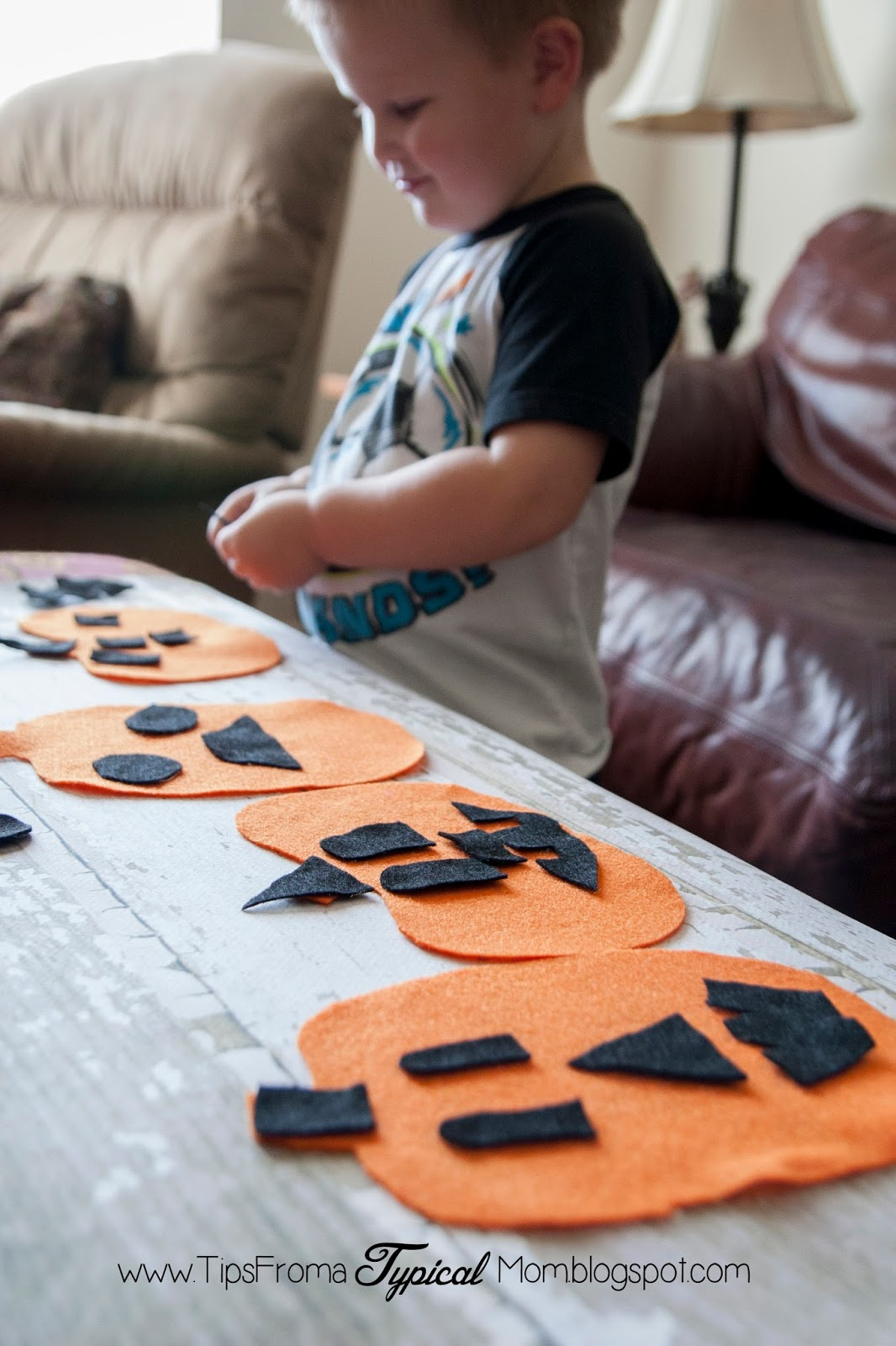 Felt Pumpkin Jack O Lantern Activity For Preschoolers