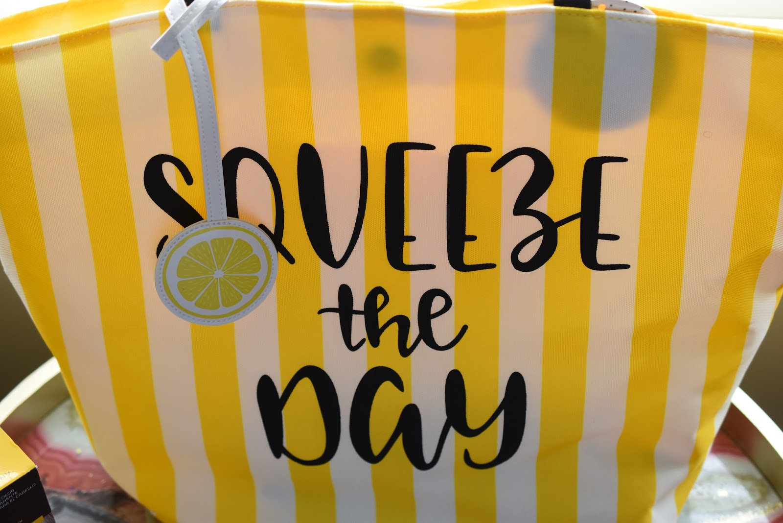 Sally Lemon Slice Beach Tote Bag