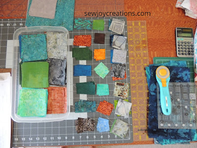 prepping fabric for small blocks