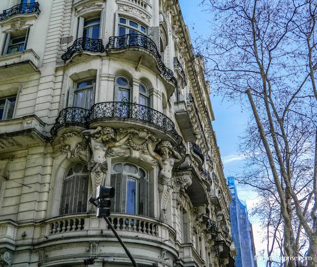 Antigo Hotel Paris, edifício art nouveau da Avenida de Mayo, Buenos Aires