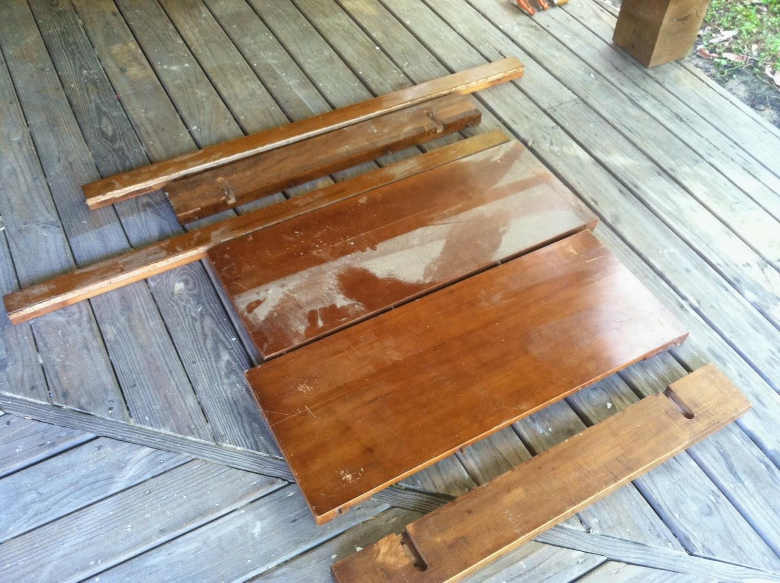 Bon Southern Charm Repurposed Heirloom Wood End Table