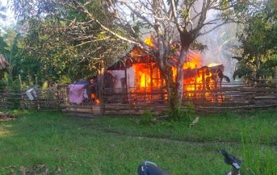 Si Jago Merah Hanguskan Satu Rumah Warga di Desa Tebing Bulang