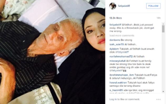 Selfie Dengan Arwah Atuk yang Mati, Fatiya Latiff Dikecam