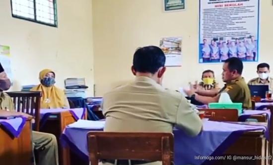 Wabup Mansur Sidak ke Desa Gendowang, Tinjau Kinerja Guru dan Aparat Desa