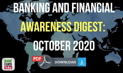 Banking and Financial Awareness Digest: October 2020