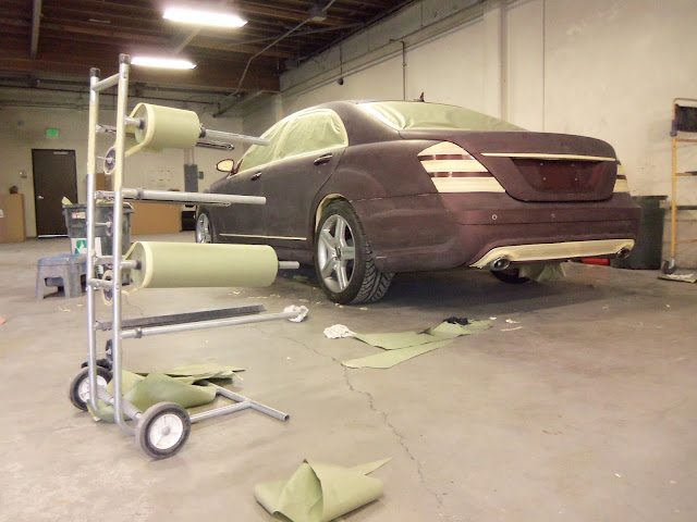 Mercedes s550 repainted by Almost Everything Autobody