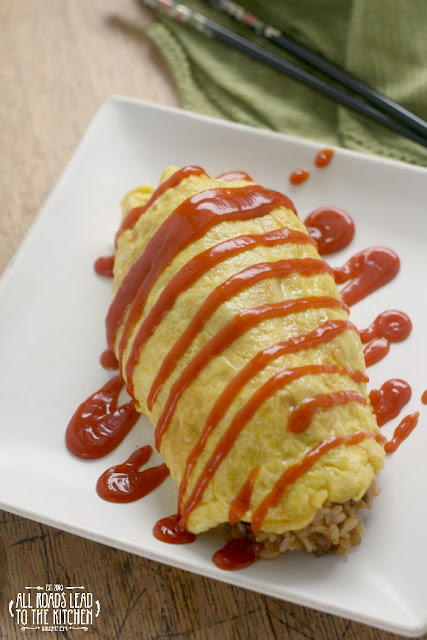 Tampopo-inspired Omurice (Japanese Rice Omelet) by All Roads Lead to the Kitchen