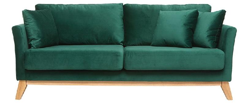 divano 3posti modello OSLO rivestimento velluto verde