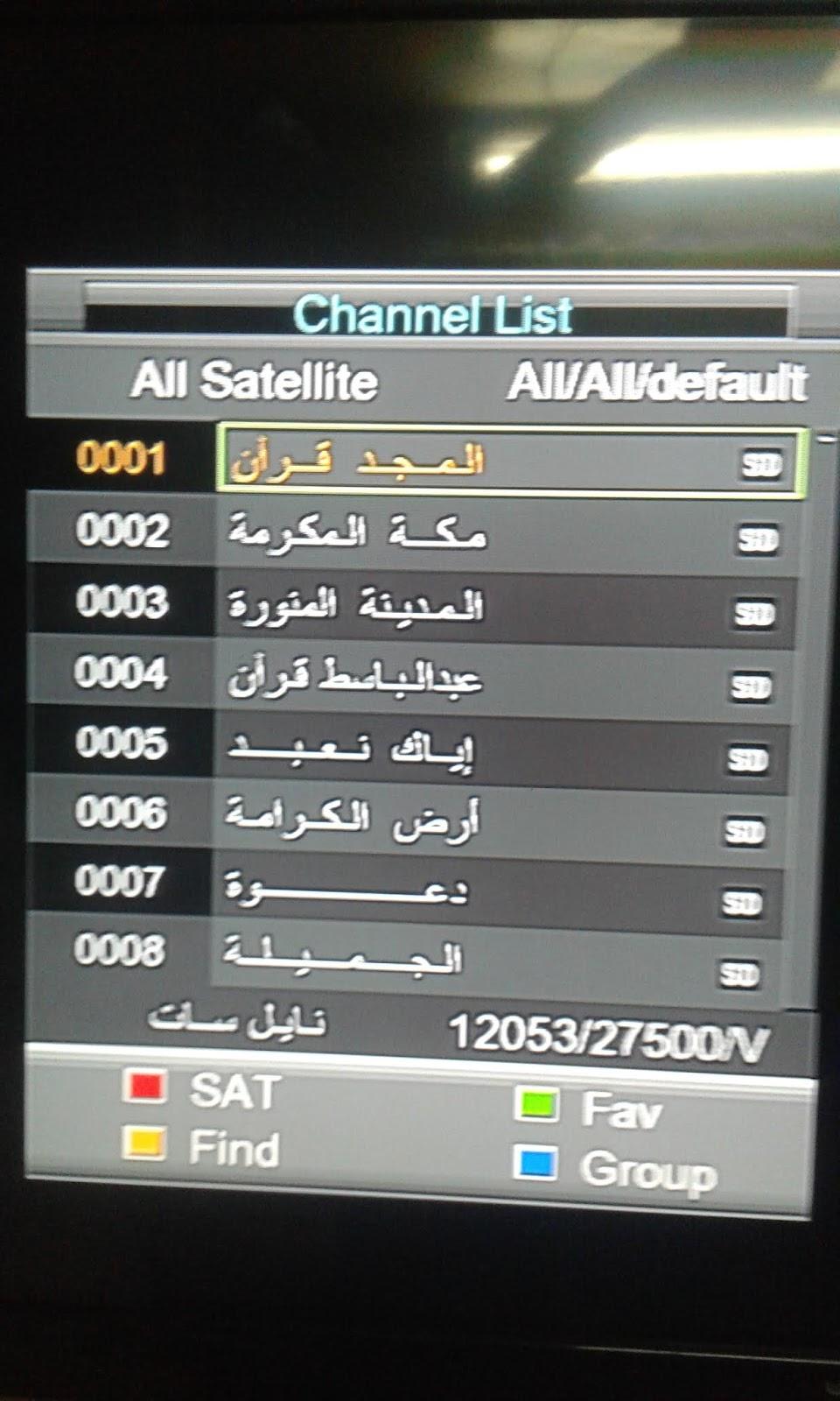 احدث ملف قنوات اسلامي عربي وانجليزي لاكثر من 90من اجهزة