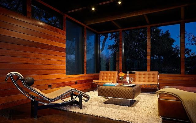 ห้องพักผ่อนสไตล์งานไม้