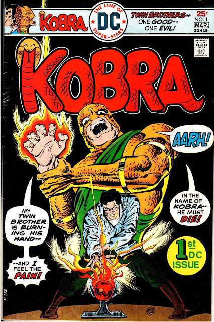 Kobra v1 #1, 1975  dc bronze age comic book cover - 1st Kobra