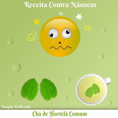 Receita Contra Náuseas: Chá de Hortelã Comum