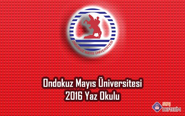 Ondokuz Mayıs Üniversitesi 2016 Yaz Okulu