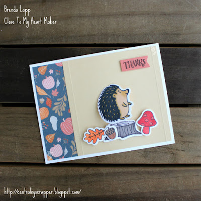 hedgehog card created with Thoughtful Critters