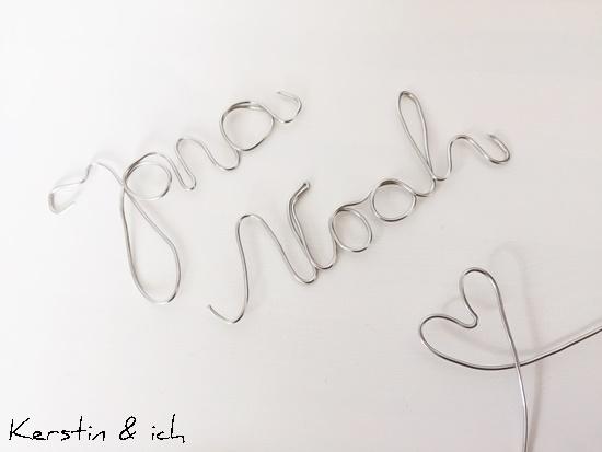 Basteldraht Schriftzug DIY