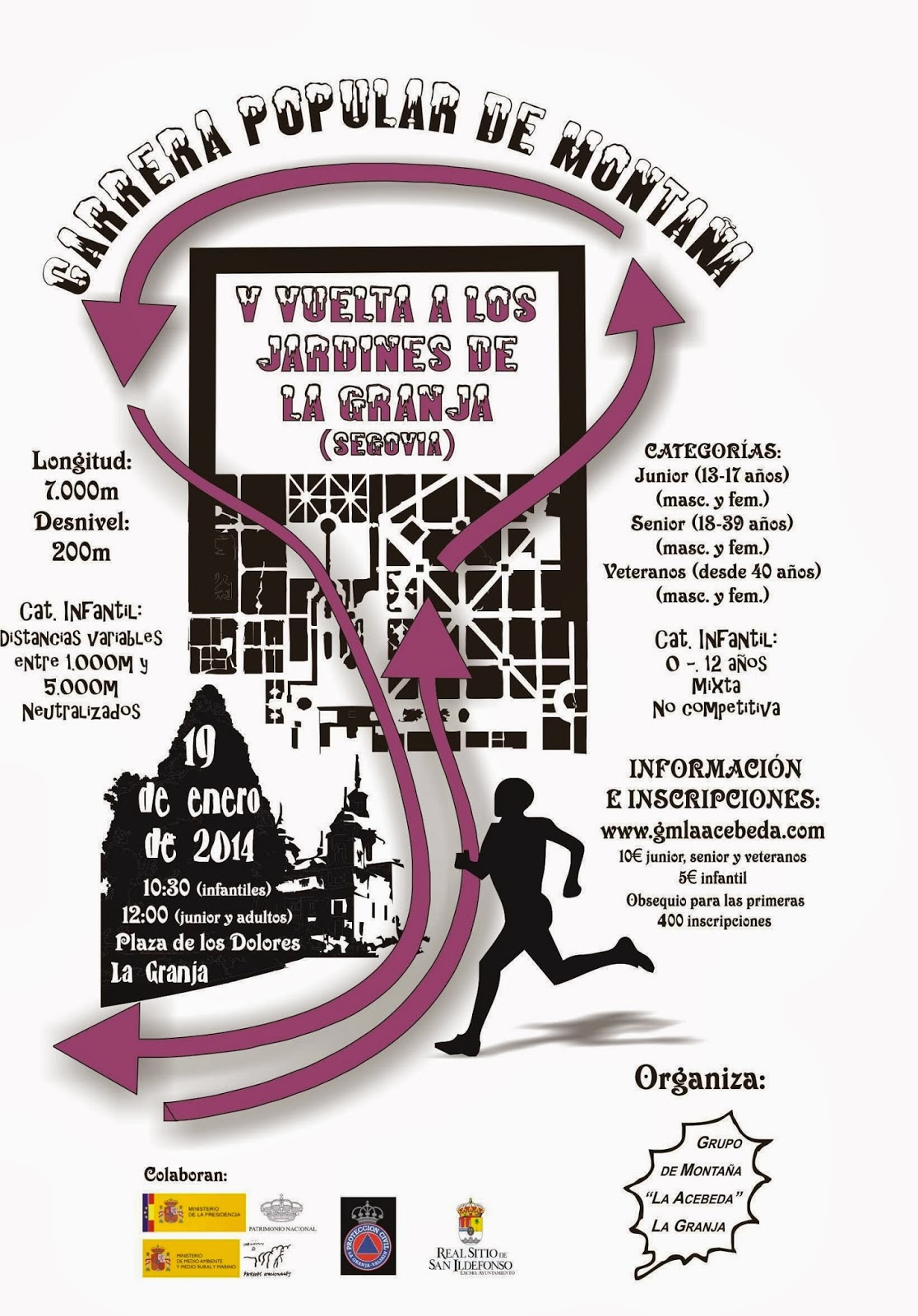 Cartel de la V Vuelta a los jardines de La Granja