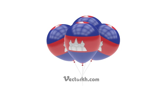 cambodia balloon flag animation alpha for cambodia independence day free psd file templates