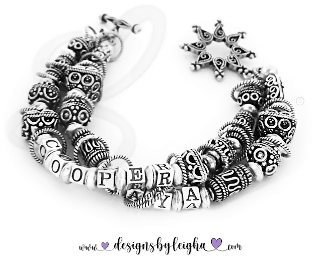 Cooper and Laya  Large Bali Sterling Silver Mothers Bracelet with a beautiful Star Toggle Clasp