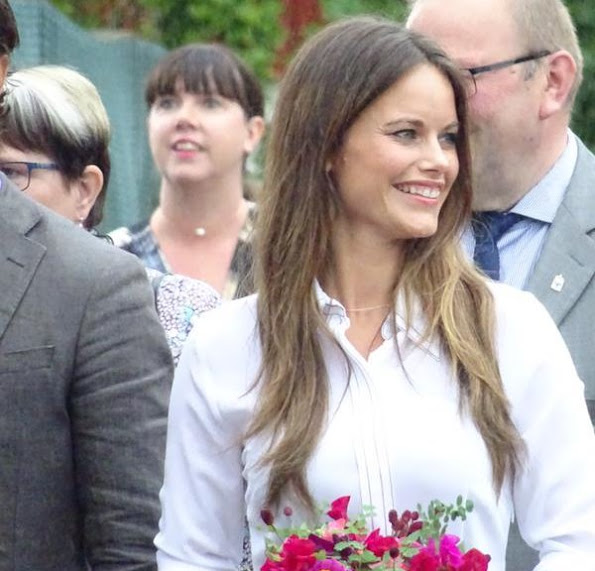 Prince Carl Philip and Princess Sofia visit the home of Swedish author Selma Lagerlof in Marbacka in Sunne at county of Varmland
