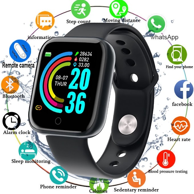 SmartWatch For Android IOS Waterproof Heart Rate