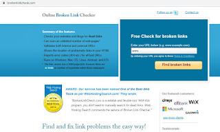 cara cek broken link menggunakan brokenlinkcheck.com