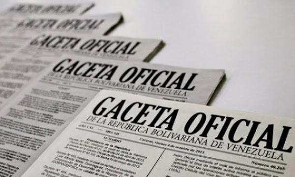 Consulte sumario de interés en  Gaceta oficial Nº 41.142