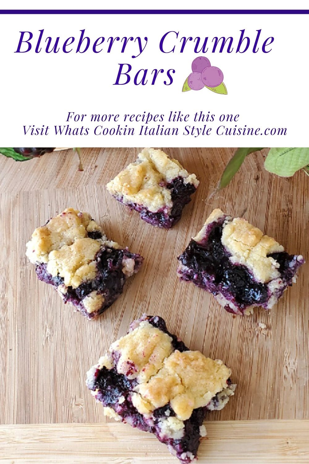this is a pin for later how to make blueberry crumble bars