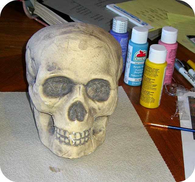 skull halloween craft