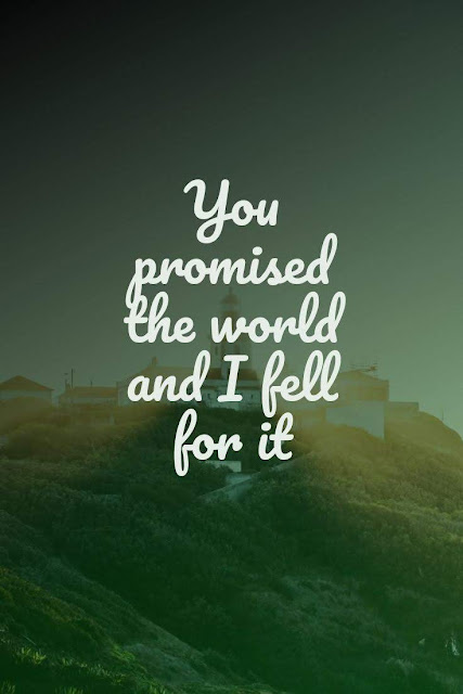 You promised the world and I fell for it