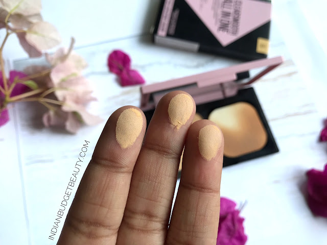 maybelline clear smooth two way cake 04 honey swatch