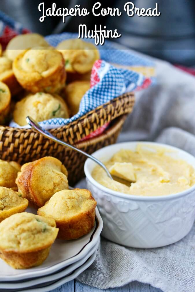 Jalapeño Corn Bread Muffins with Cheddar Butter