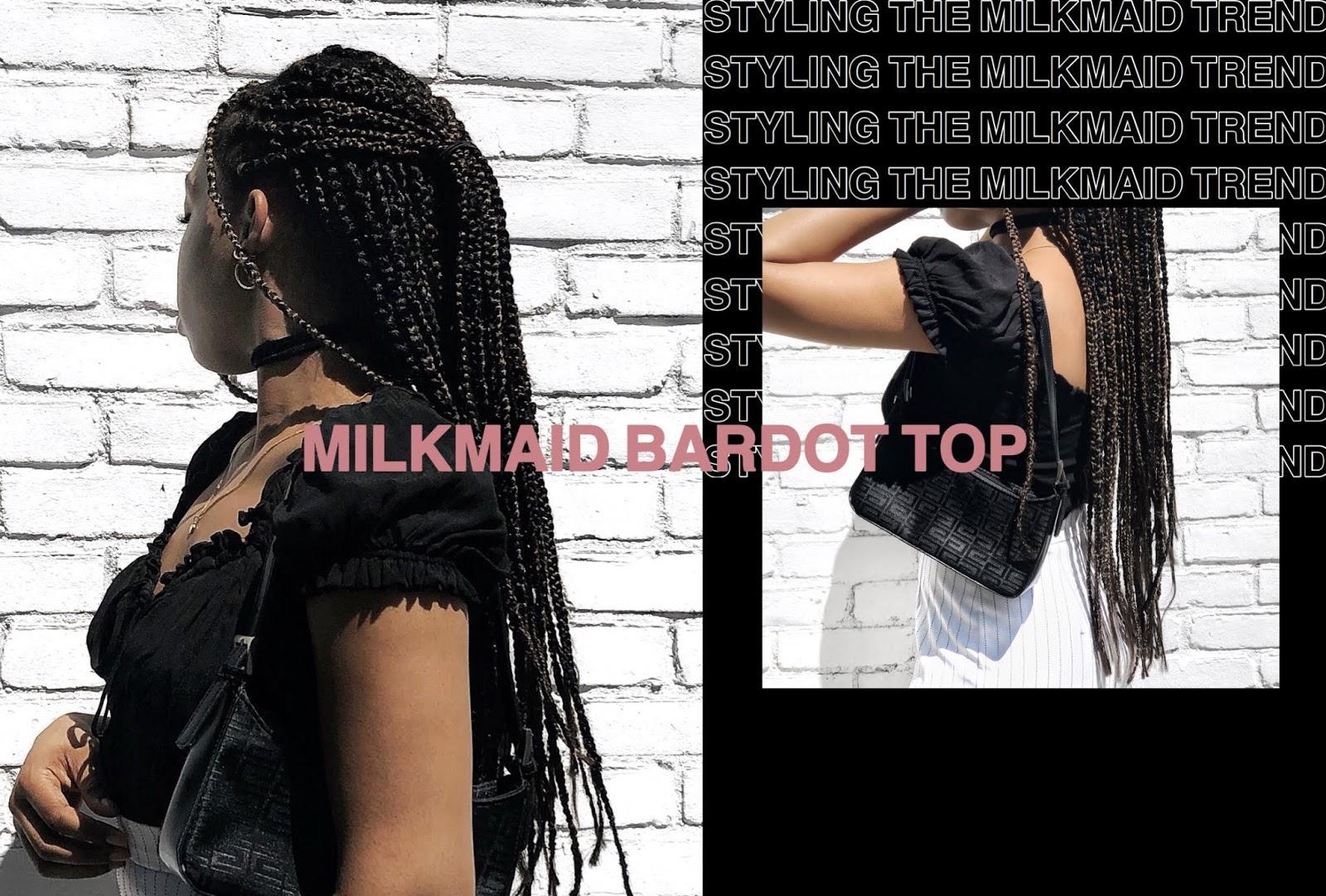 Trend I'm Loving: Milkmaid Bardot Tops