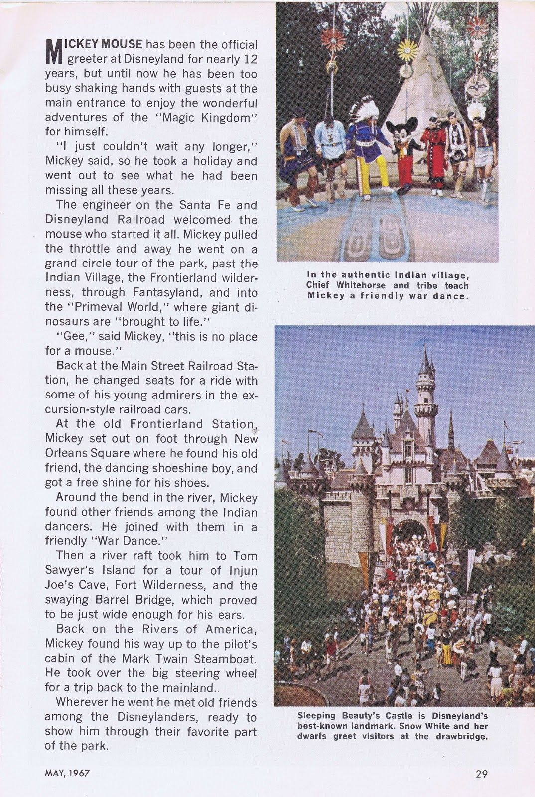 jim fanning s tulgey wood  enjoy this disneyland photo essay starring the world s most famous mouse from jack and jill magazine 1967