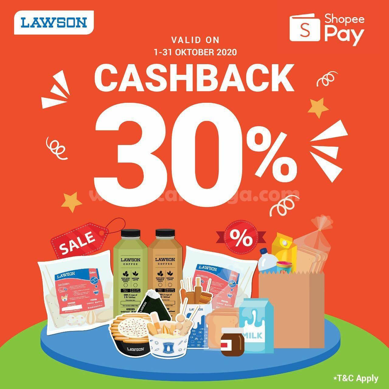 Promo LAWSON CASHBACK 30% untuk Transaksi Menggunakan SHOPEEPAY