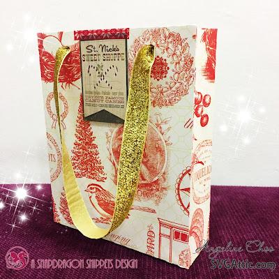 SVG Attic: Christmas Gift Bags with Angeline #svgattic #scrappyscrappy #christmas #fatherchristmas #holiday #giftbag