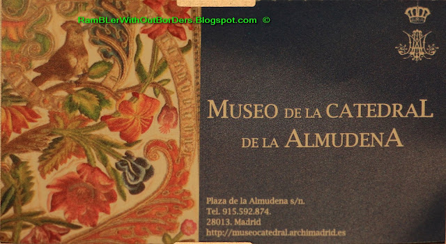 Entry ticket, Almudena Cathedral, Madrid, Spain