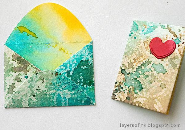 Layers of ink - Tiny Envelopes Tutorial by Anna-Karin Evaldsson.